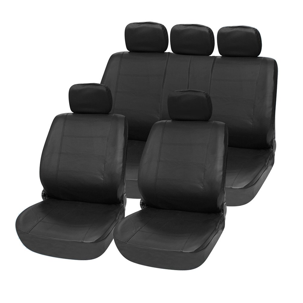 11pcs Protect Car from Wear Tear Spills PU Leather Car Seat Cover Set Four Seasons Universal Auto Cushion Interior Accessories(China (Mainland))