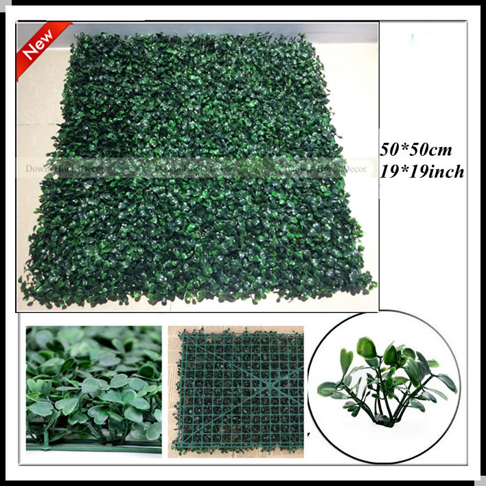 2015 12pc square artificial garden hedge grass fence 50 for Artificial grass indoor decoration