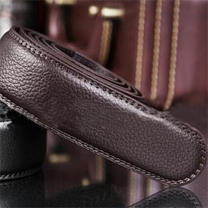 Fashion Designer Faux Leather 108 5cm Length Men s Casual Belt Solid Simple No Buckle Belt