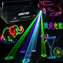 Hot sale disco 1 watt RGB full color animation laser light led stage lights DJ dance party show(China (Mainland))