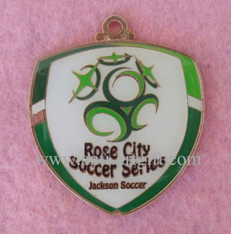 Football Clup Badge Imitation Hard Enamel Green and White color(China (Mainland))