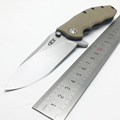 BMT 0562CF Ball Bearing Flipper Tactical Folding Knives 9CR18MOV Blade Desert G10 Titanizing Steel Handle Camping