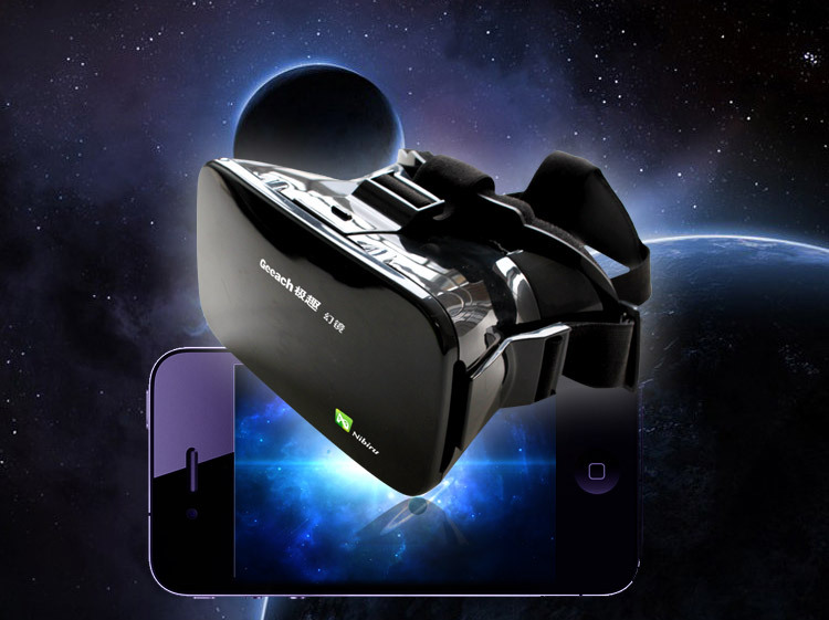 3D Google Cardboard Viewing Glasses Virtual Reality VR Box Head Mount ABS Smartphones Mirror for 3