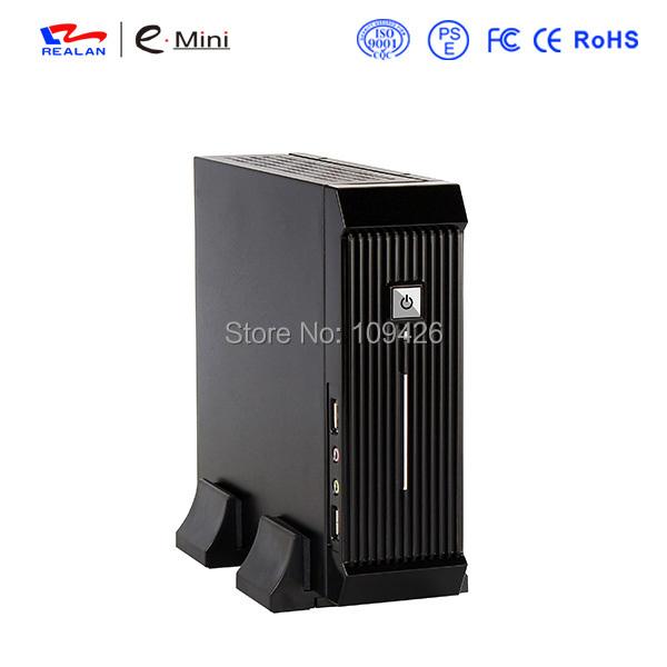 Realan Black Mini ITX HTPC PC Case E 3016 with Power Supply Fan(China (Mainland))