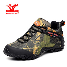 XIANGGUAN Man Hiking Shoes Men Waterproof Trekking Boots Army Green Zapatillas Sports Climbing Shoe Outdoor Walking Sneakers