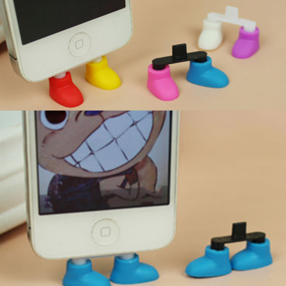 Shoe Foot Shape Dustproof Usb Charger Port Plug Stand Holder Gadget For Phone 5 Free Shipping(China (Mainland))