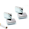20pcs lot Fashion small Oil Lighter Windproof Metal Oil Cigarette lighter Smoking Fuel Lighters silver color