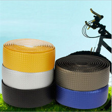 2015 1.9M New 1Pair Carbon Bicycle Non-slip Handle Belt EVA Mountain Road Bike Handlebar Tape Ribbon Bicycle Wrap + 2 Bar Plug
