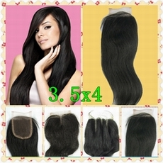Free Shipping Brazilian virgin hair straight Top Lace Closure 3.5x4 size virgin remy remi<br><br>Aliexpress