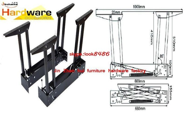 New design metal table mechanism B07