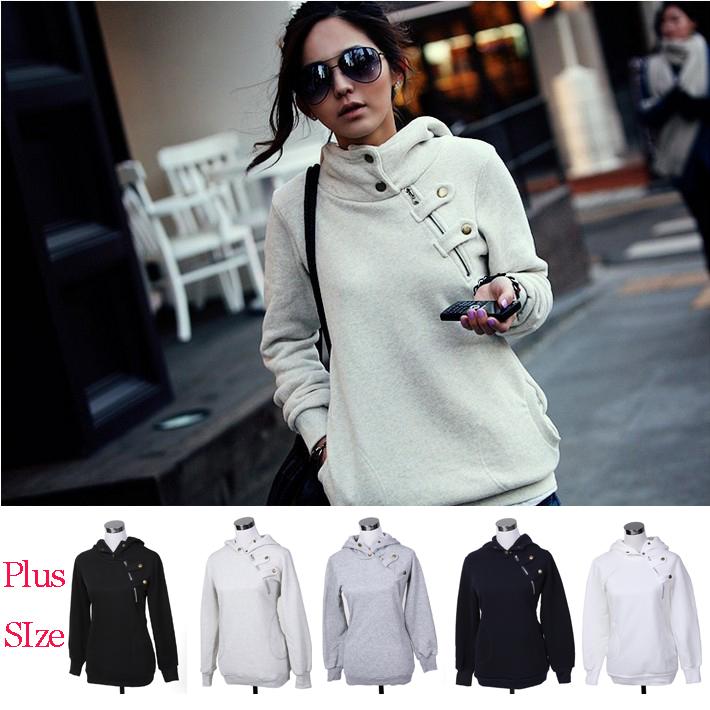 Plus Size New 2015 Autumn Hoodies Women Sport Suit Pullovers Hoody Swearshirt Fleece Warm Moleton Feminino Winter Coat Camisolas(China (Mainland))