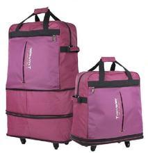 Bagages à roulettes valise de grande capacité pliante en plein air hommes voyage sac avec roues femmes bagages voyage sacs chariot maleta(China (Mainland))