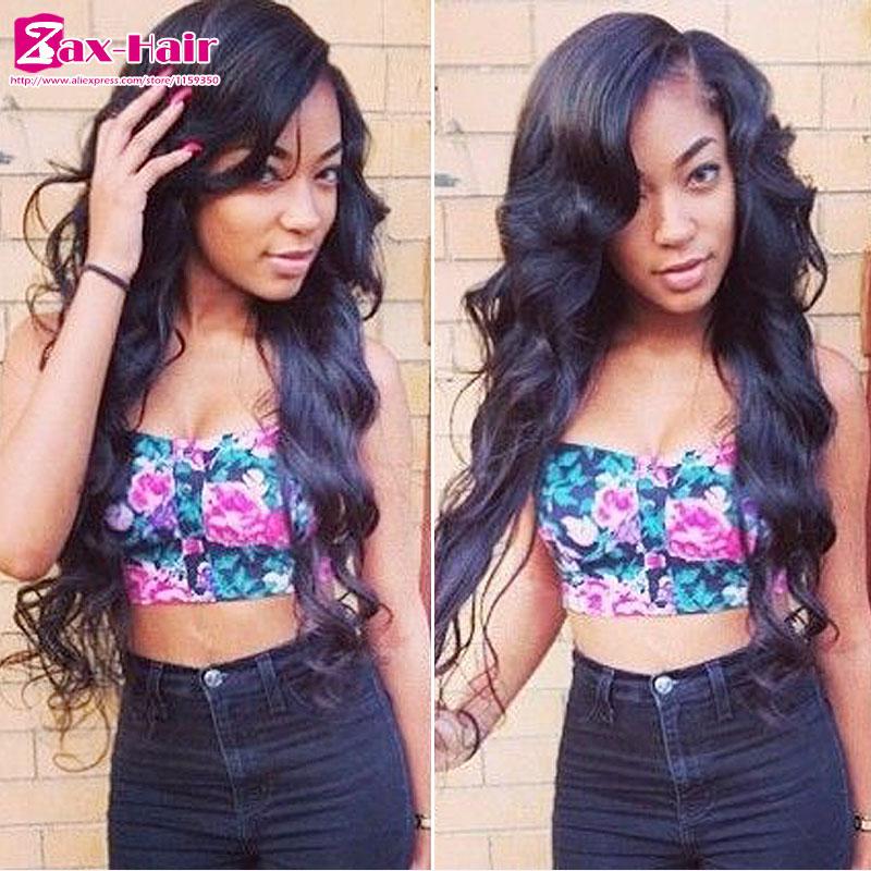Фотография In stock u part wig wavy Brazilian virgin human hair u part wigs for black women Middle left right part 130% density top quality