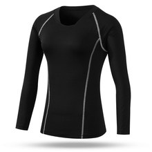 Compression women long sleeve t shirt women's solid tops clothes quick dy casual tee shirt base layer camiseta feminina(China (Mainland))