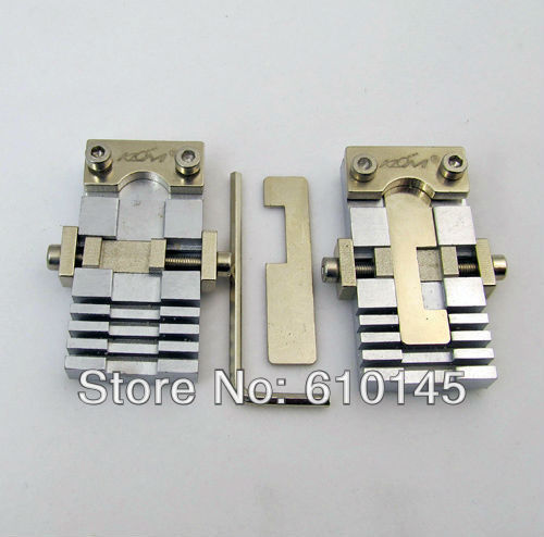 a pair vertical key chucking tools for special key.key clamp for car and special hard key cutting.