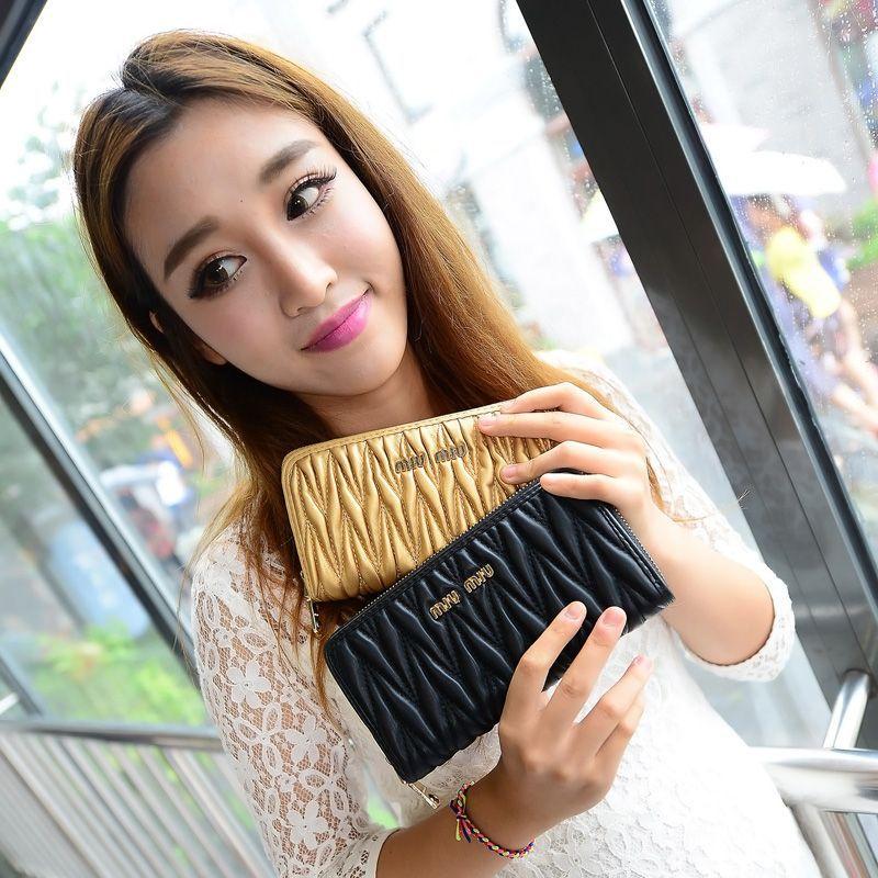 Spring 2016 New Korean Long Purse Packet Card Girls Zipper Wallet Womens Fashion Solid Color Cheap Brand Handbag Free Shipping<br><br>Aliexpress