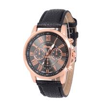 Moda de ginebra Relojes mujer 2015 Relojes del cuarzo mira los Relojes de la marca de lujo relogio del cuero feminino reloj de vestir