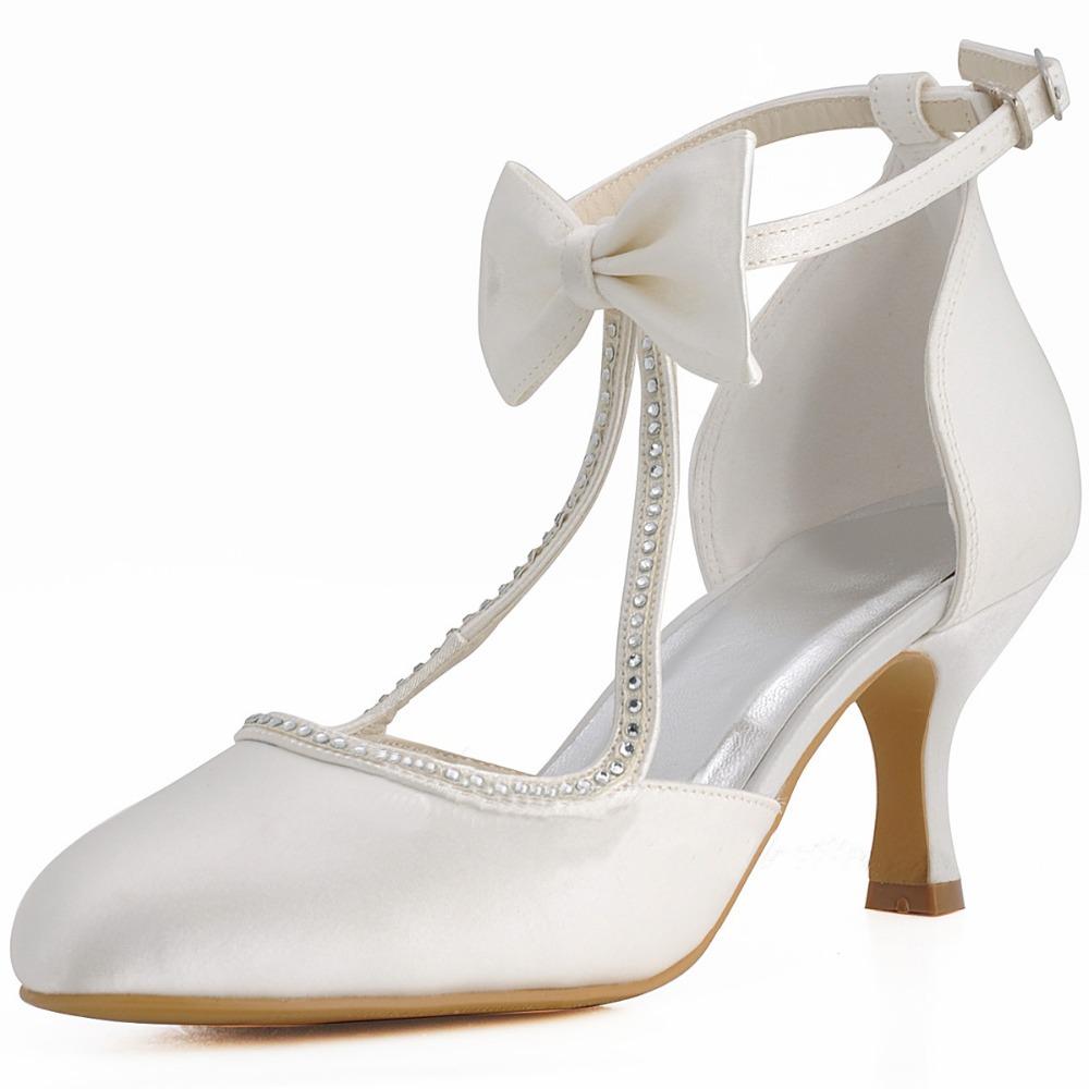 Round Toe Kitten Heel Shoes
