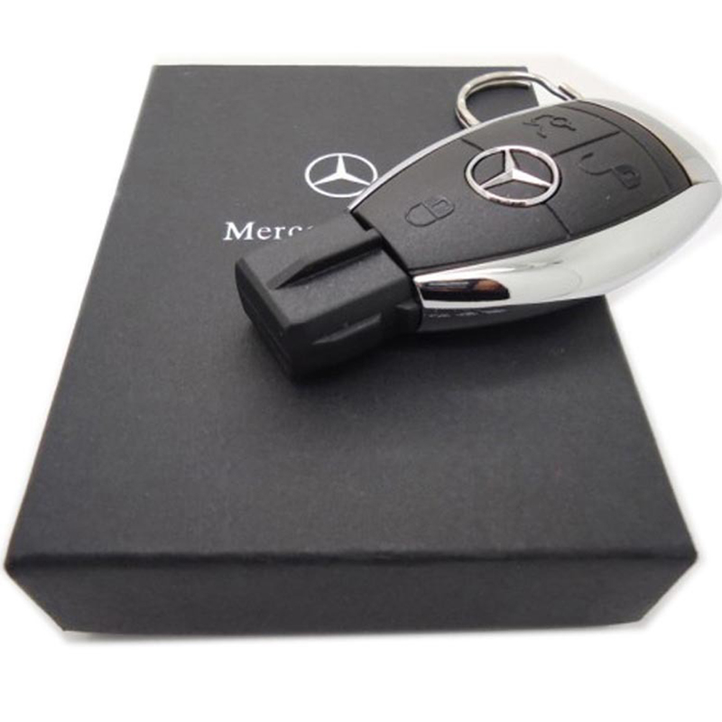 Wholesale USB Flash Drive 32GB For Mercedes-Benz Car Keys Shape Is Usb 3.0 Memory Card top quality Pen Drive In Gift Box(China (Mainland))