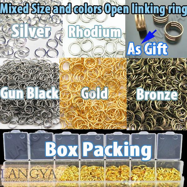 5 Colors 6 Size Mix Sizes Mix Colors Open Jump Ring 3 4 5 6 7 8 10 mm Link Loop(Hong Kong)