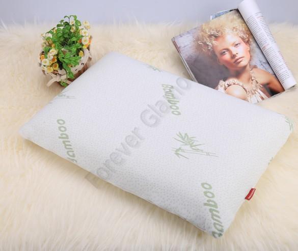 White Soft Sleep Bamboo Fiber Slow Rebound Memory Foam Pillow Cervical Protect Pillows US25(China (Mainland))