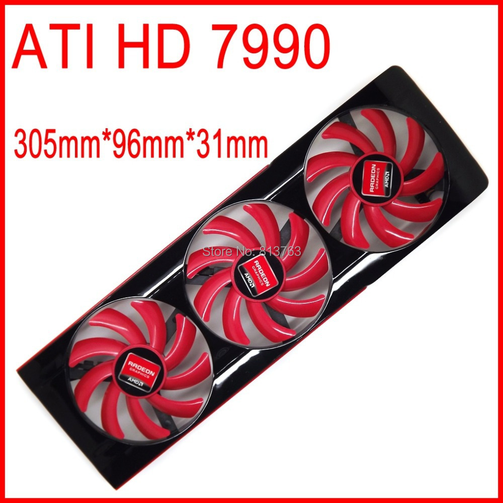 Free Shipping FD7010H12S DC 12V 0 35A For AMD ATI HD 7990 Video Card VGA Fan