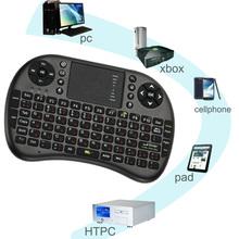 2.4 G versión rusa Mini USB teclado Wireless Touchpad del ratón del aire Fly ratón Control remoto para Android de Windows TV teléfono móvil(China (Mainland))