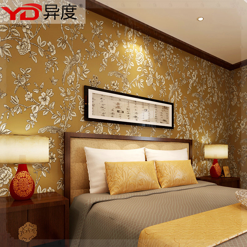 Wallpaper new chinese style wallpaper background non woven for New wallpaper for living room