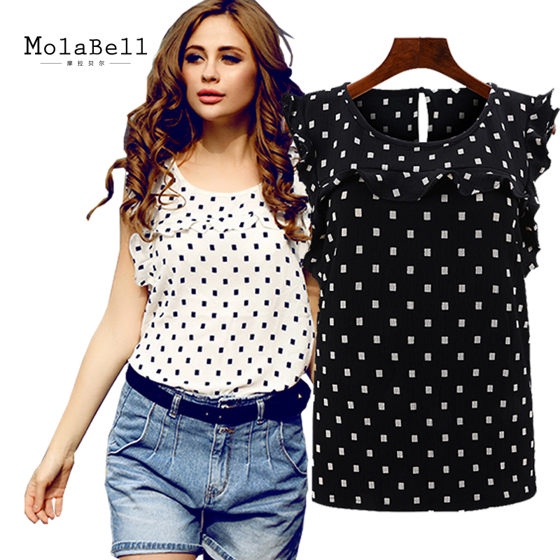 MolaBell Fashion New Summer Style Women Sleeveless Chiffon Blouses Shirts Women Tops Cheap Clothes China Women Clothes 2015(China (Mainland))
