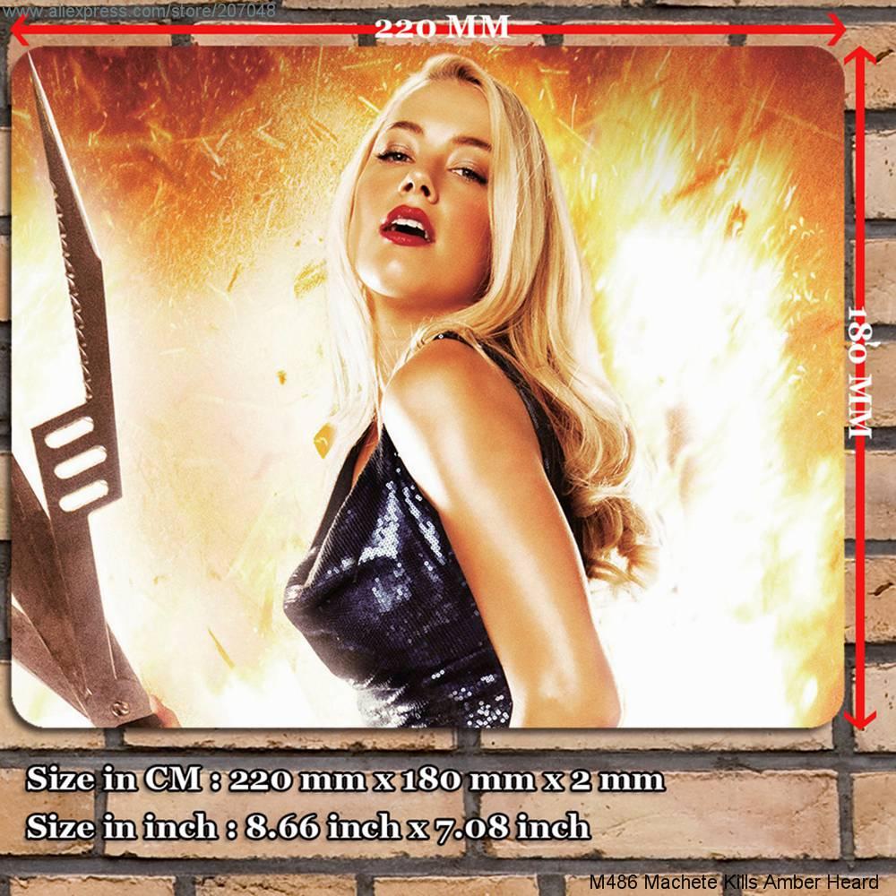 Decoration Place Pad for Movie M486 Machete Kills Amber Heard Mouse Mat 22 x 18 x 0.2 cm(China (Mainland))