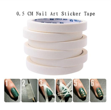 2PCS 17m*0.5cm French Manicure Nail Art Tips Creative Nail Stickers Masking Tape Do pattern Nail Repair Tools Nail Decoration(China (Mainland))