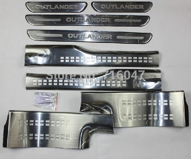 stainless steel inside external Scuff Plate/Door Sill 2013 Mitsubishi Outlander Samurai g - X6 Auto store