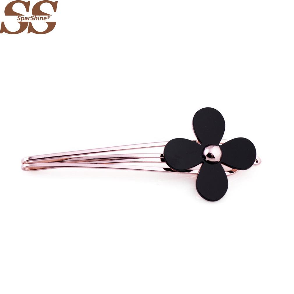 SparShine Accessories Headwear 18K Gold or Silver Hair Clip Women Hair Clips For Women Turban Headband Haarband Fabric Flowers(China (Mainland))