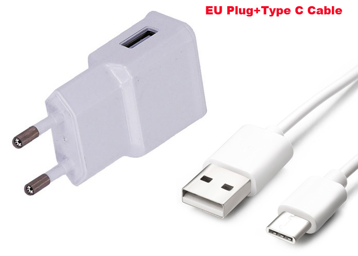 2A EU Plug Adapter Mobiele Telefoon Reislader + Type C USB Datakabel Voor Xiaomi Mi 5, Mi 4C Mi 4 S, Letv Le 2 Pro, Le Max, Le Max2(China (Mainland))
