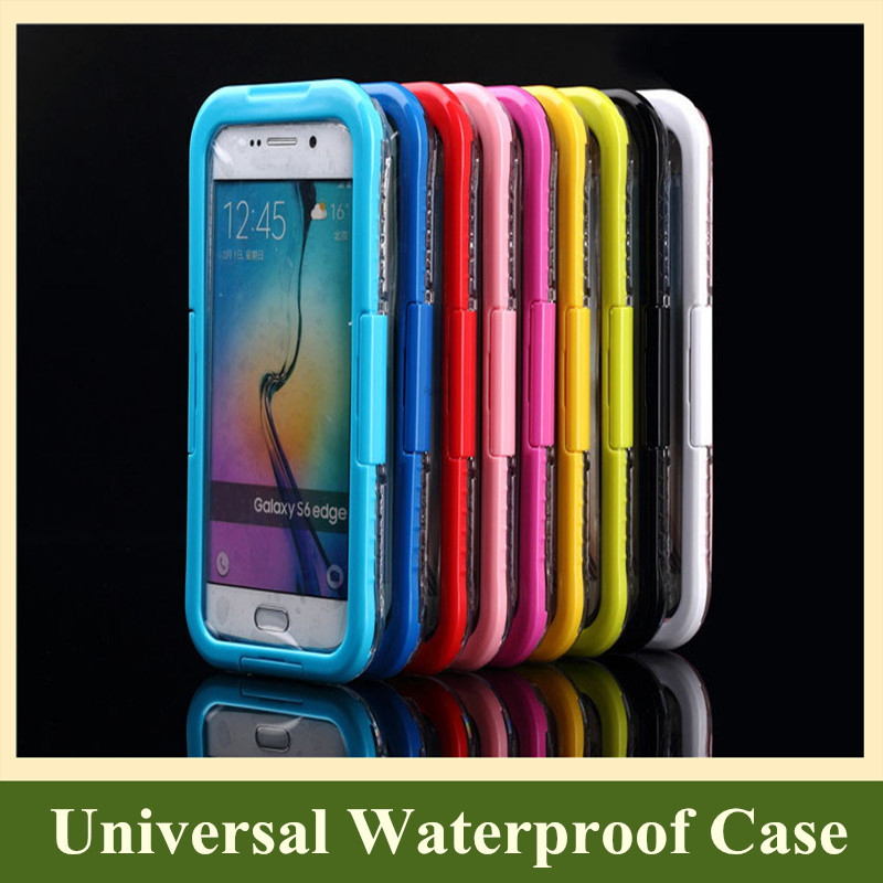 200pcs 2015 Hot New Products Underwater Swimming Waterproof Pouch Bags Cell Phone Cases for Samsung Galaxy S6 / S6 Edge