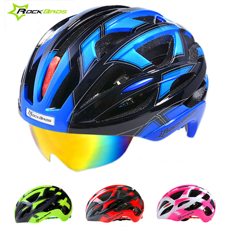 2016 High Quality Road Bicycle Cycling Helmet EPS+PC Material Super Light Integrally-molded Bike Goggles Helmets With 3 Lenses(China (Mainland))