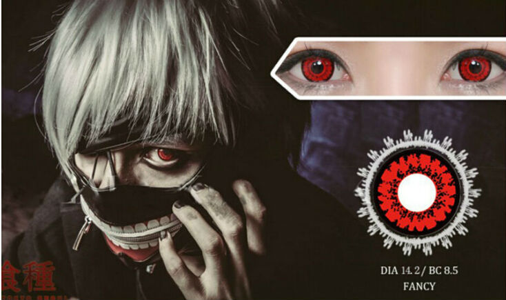 Anime 1Pcs Tokyo Ghoul Kaneki Ken Cosplay Contact Accessories Lenses Eyes(China (Mainland))
