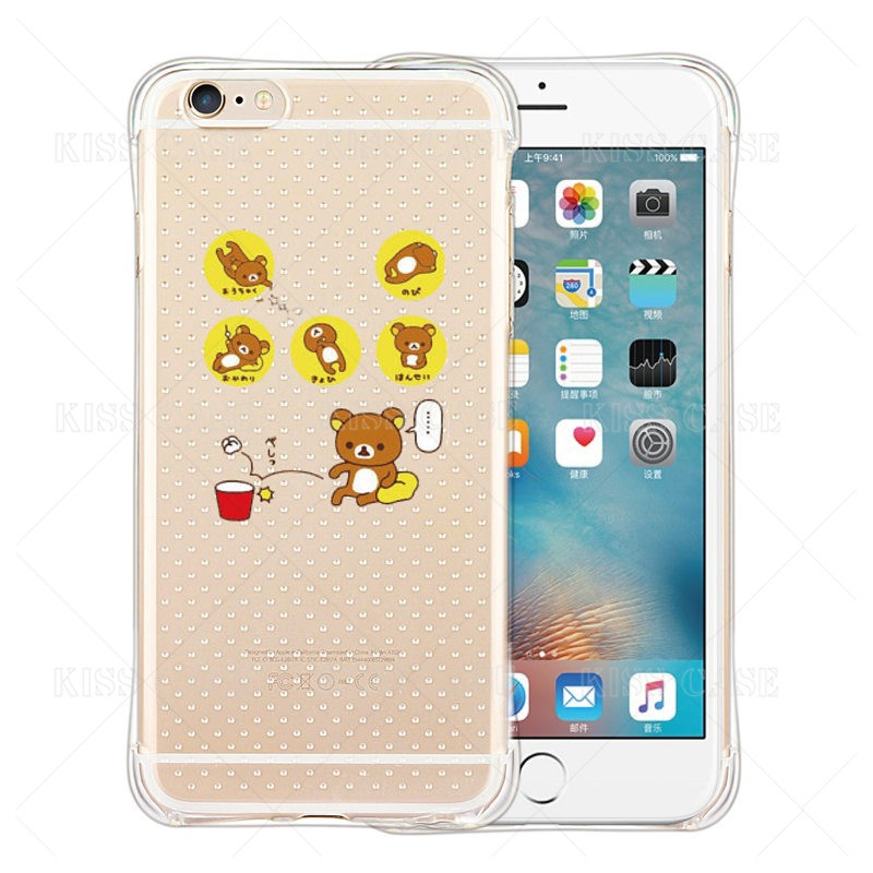 Funny Anti Shock Case for iPhone5S 5s 6S Plus 7 plus Unicorn Cute Bear Rubbit Elephant Coque Shock Proof Shell Clear Gel Air Bag