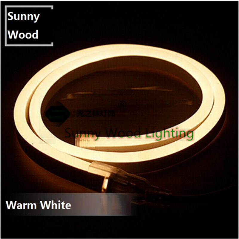 Mini Neon flex 5 meters/lot 2835 SMD led neon tube ,220V led sign board tube ,Flexible strip warm white with power cord(China (Mainland))
