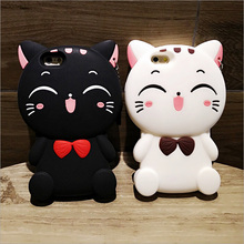 2016 new three-dimensional cartoon cute silicone mobile phone case for iphone6 6s plus