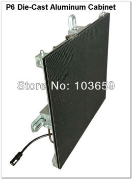Super Slim P6 RGB video advertising LED Display Die-cast Aluminum Cabinet Size 576x576mm With Linsn Receive Card