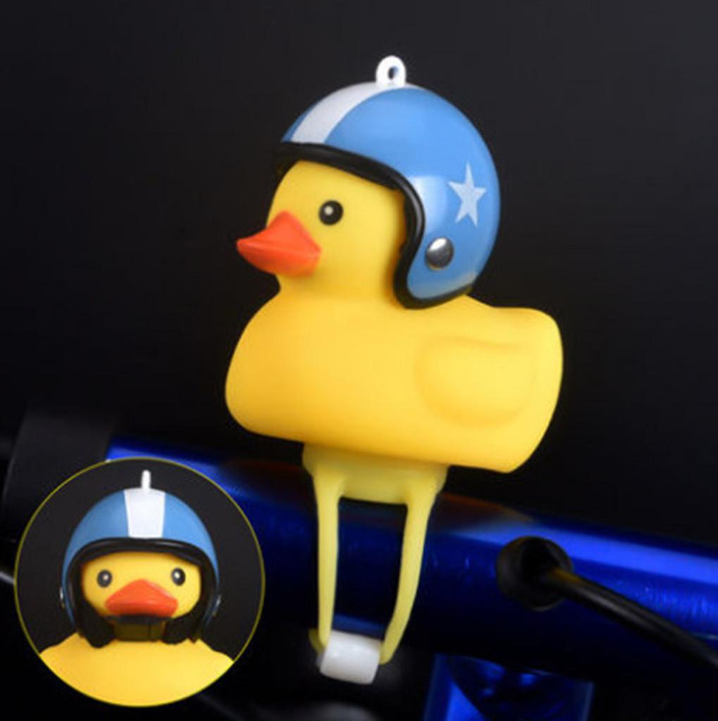 Dibujos Animados de Gel de s/ílice Amarillo Forma de Pato peque/ño Campanas de Bicicleta Brillante Bicicleta de monta/ña Manillar Cabeza de Pato Accesorios de luz Nuevo