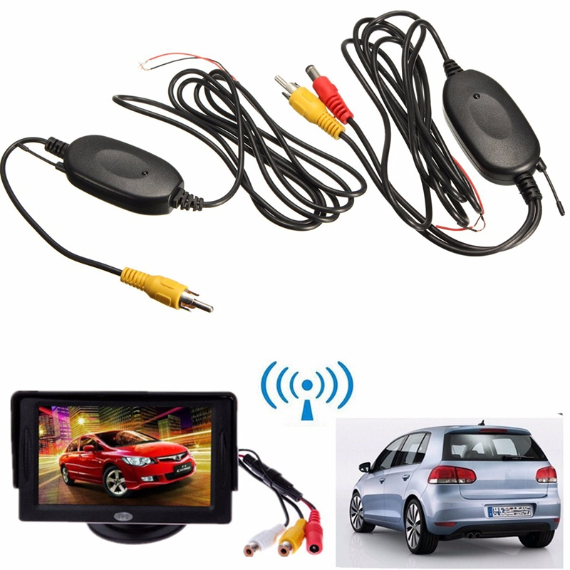 2.4 Ghz Wireless Video Transmitter Receiver Kit For Car Monitor To Connect The Car Rear View Camera Reverse Backup(China (Mainland))