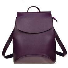 Mochila de moda para mujeres de alta calidad mochilas de cuero para niñas adolescentes mochila escolar mochila(China)