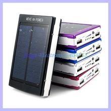 Super Capacity 30000MAH Solar Battery Charger For Mobile Phone Portable Dual USB Port Power Bank(China (Mainland))