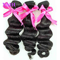 1PC Sample 100% Unprocessed Brazilian Virgin Straight Hair Weaves Natural Black Can Be Dye Genuine Purest Human Hair Extensions