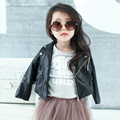 Spring Fashion Kids Jacket PU Leather Girls Jackets Clothes Children Outwear For Baby Girls Boys Clothing