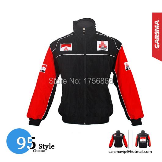 Вышивка хлопок F1 куртки мотокуртки для Mitsubishi ралли команда зимние пальто