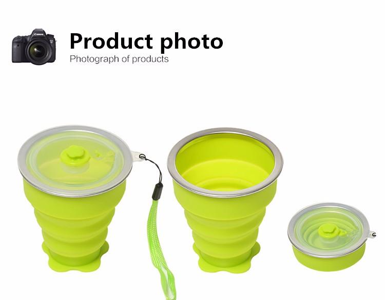 Rubihome 160 мл Сложенном Стакана Воды Бутылки Контейнеры Современный Экологически 15