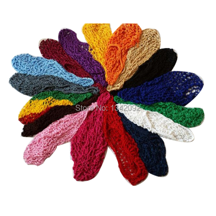20pcs/lot HOT Women Ladies Thin Hair Snood Hair Net Woven Polyester Renaissance Mix Colors(China (Mainland))